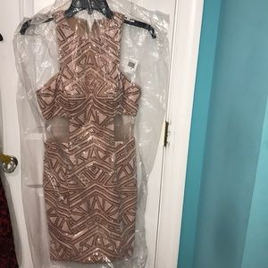New GB Sequin Sheath Formal Dress